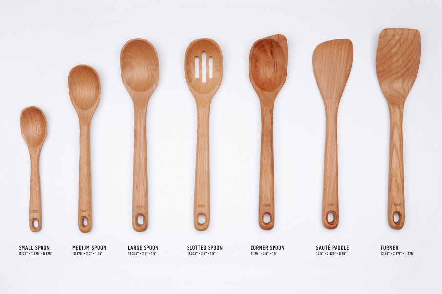 Oxo wooden utensils nadeem haidary for Wooden kitchen spoons