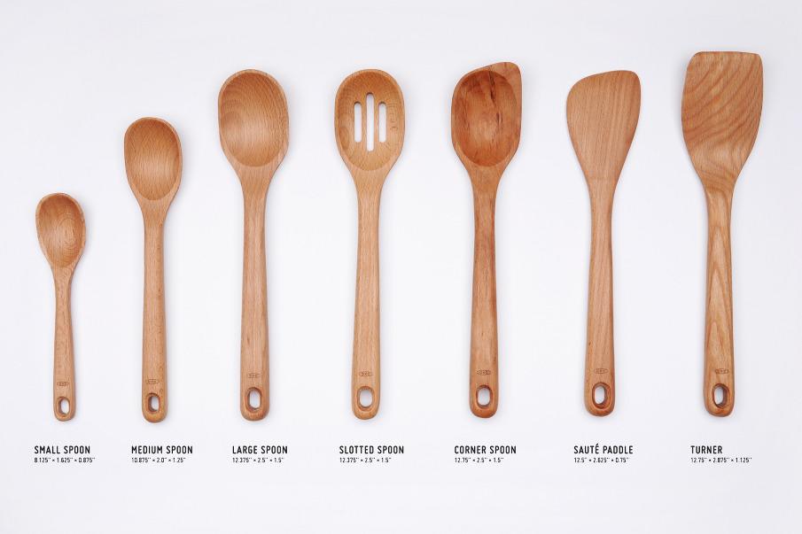 Oxo wooden utensils nadeem haidary for Wooden kitchen utensils