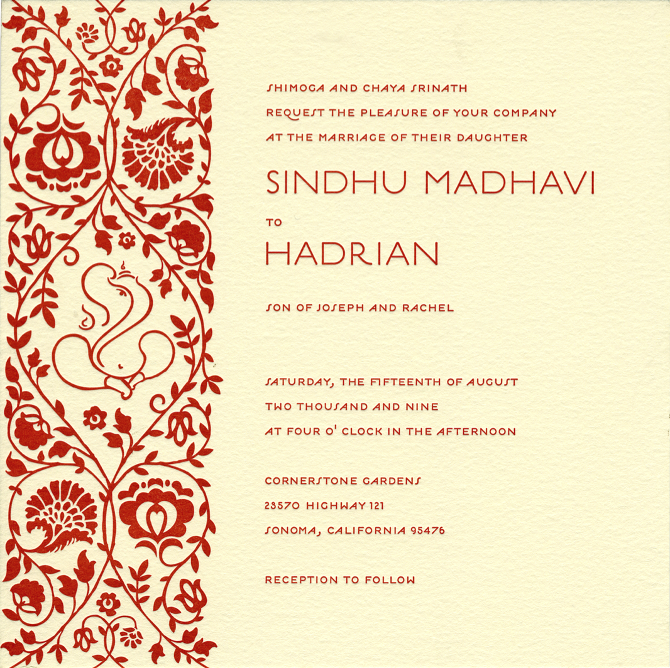 hindu wedding invitation format 2 colors combination hindu wedding invitation download if you are planning your wedding hindu style then we have this 2 colour combination hindu wedding card designed especially for you.